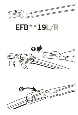 Trico Exact Fit FZ Beam Wiper Blade 500mm EFB5019R Sparesbox - Image 3