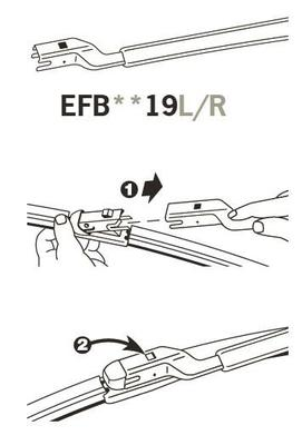 Trico Exact Fit FZ Beam Wiper Blade 650mm EFB6519R Sparesbox - Image 3